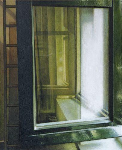 Raam atelier no.4. Acryl op katoen 60 bij 50cm 2011