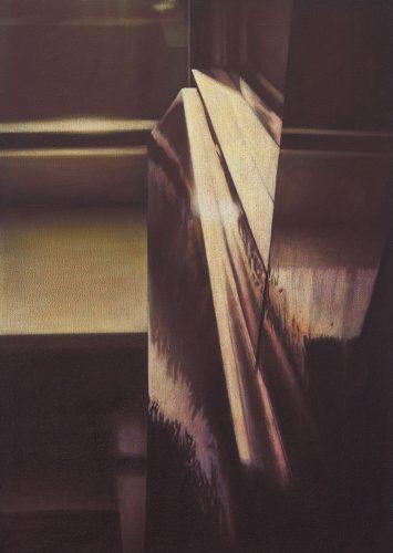 Raam atelier no.6. Acryl op katoen 70 bij 50 cm 2011