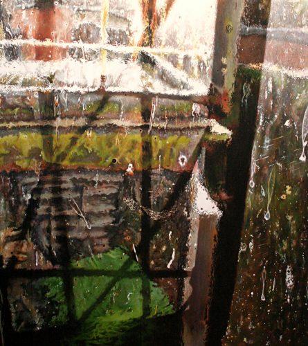 De lange zomer, van drie uur in de middag. Acryl op linnen 125 bij 100cm 2015