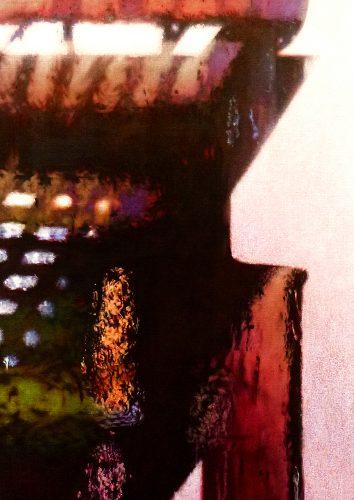 Zeven uur, na de regen. Acryl op linnen 70 x 50cm 2014