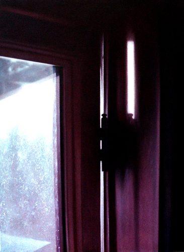 Raam atelier no.7. Acryl op katoen 95 bij 70cm 2011