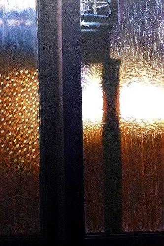 twaalf uur, zonsopgang. Acryl op linnen 90 bij 60cm 2014