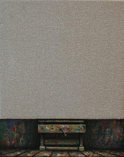 Canvas 4.  Olie oplinnen.  50 bij 40 cm.  2021