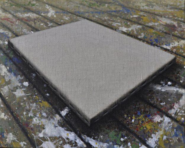 Doku; Canvas.  Olie op linnen.  40 bij 50 cm  2019