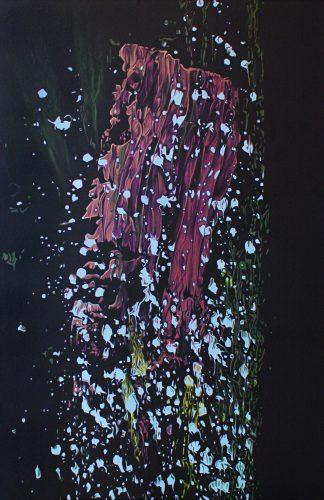 Doku; Verf 2.  Olie op katoen.  120 bij 80 cm. 2020