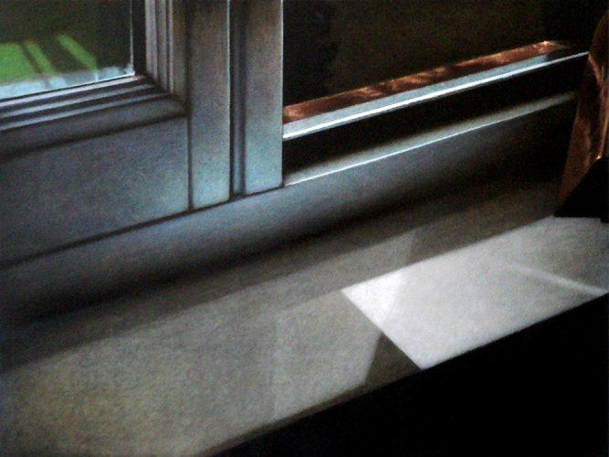 Raam atelier no.8. Acryl op katoen 60 bij 80cm 2011