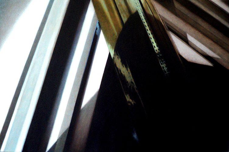 Raam atelier no.10. Acryl op katoen 60 bij 90cm 2011