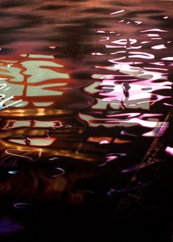 Dubbelbad. Olie op katoen 105 bij 75 cm 2016