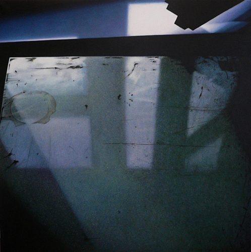 Spiegeling op Tafel no.2. Acryl op Katoen 100 bij 100 cm 2012